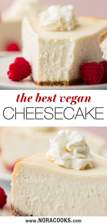 The Best Vegan Cheesecake Nora Cooks In 2020 Vegan Dessert Recipes Vegan Cheesecake Dessert Recipes Easy