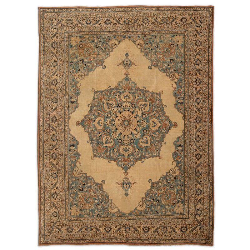 Late 19th Century Tabriz Hadji Jalili 3 75 X 2 75 M Zigler Original Rugs
