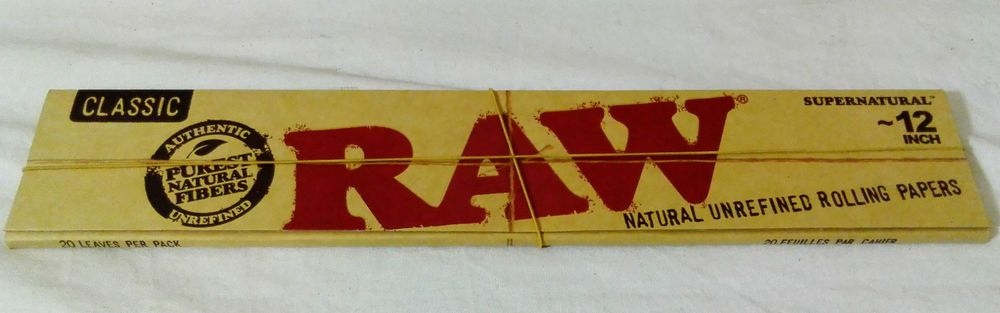 12 Inch Xtra Long Raw Rizla Supernatural Classic Tobacco Classic Papers Hemp Gum Classic Papers Classic Paper
