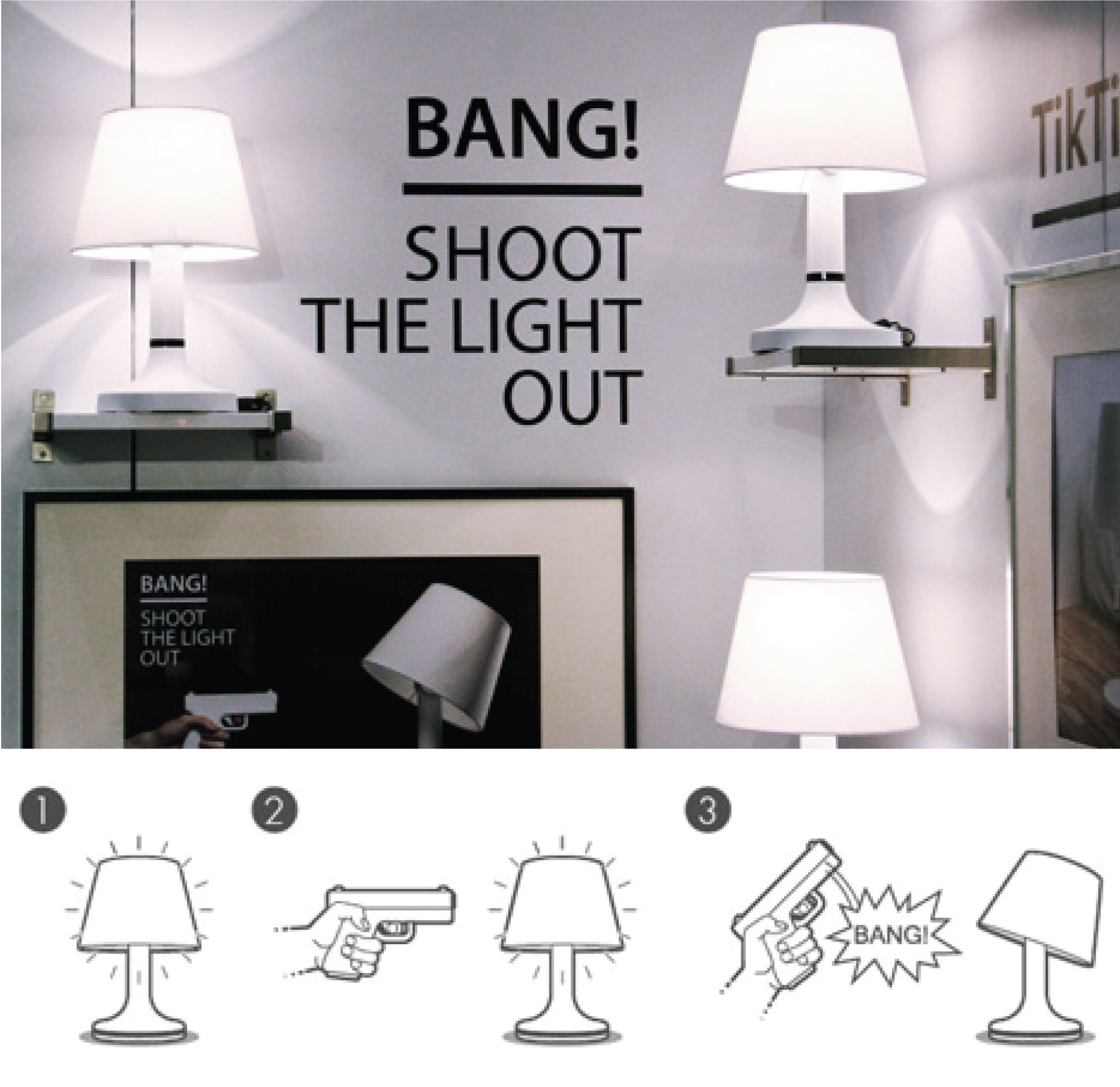 Bitplay INC Has Created The BANG!   An Led Powered Lamp That Comes With A
