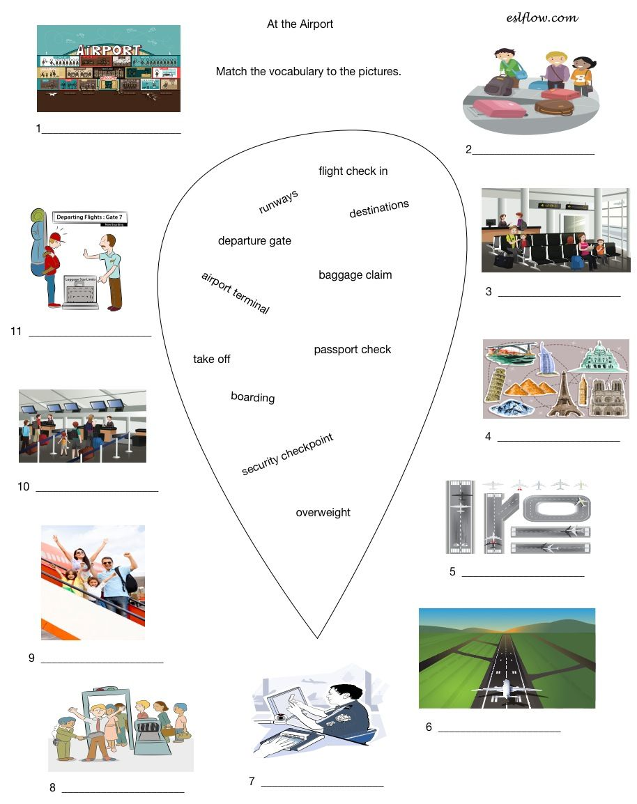 Airport Tourism Vocabulary Worksheet Vocabulary Worksheets Vocabulary Esl Lesson Plans