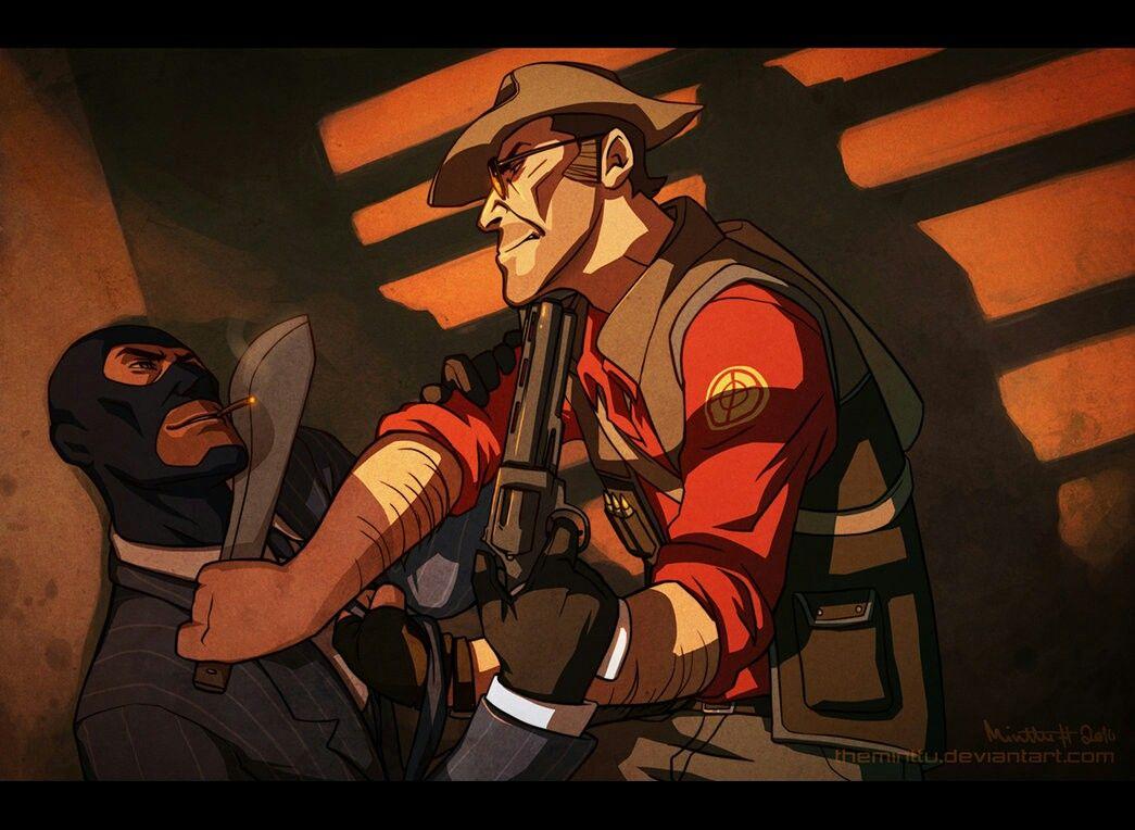 Sniper Spy Fanart Team Fortress 2 Team Fortress Fortress 2