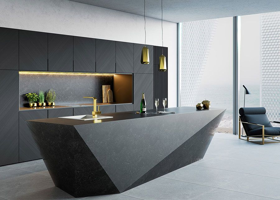 50 cucine moderne con isola centrale arredamento casa for Cucine moderne scure