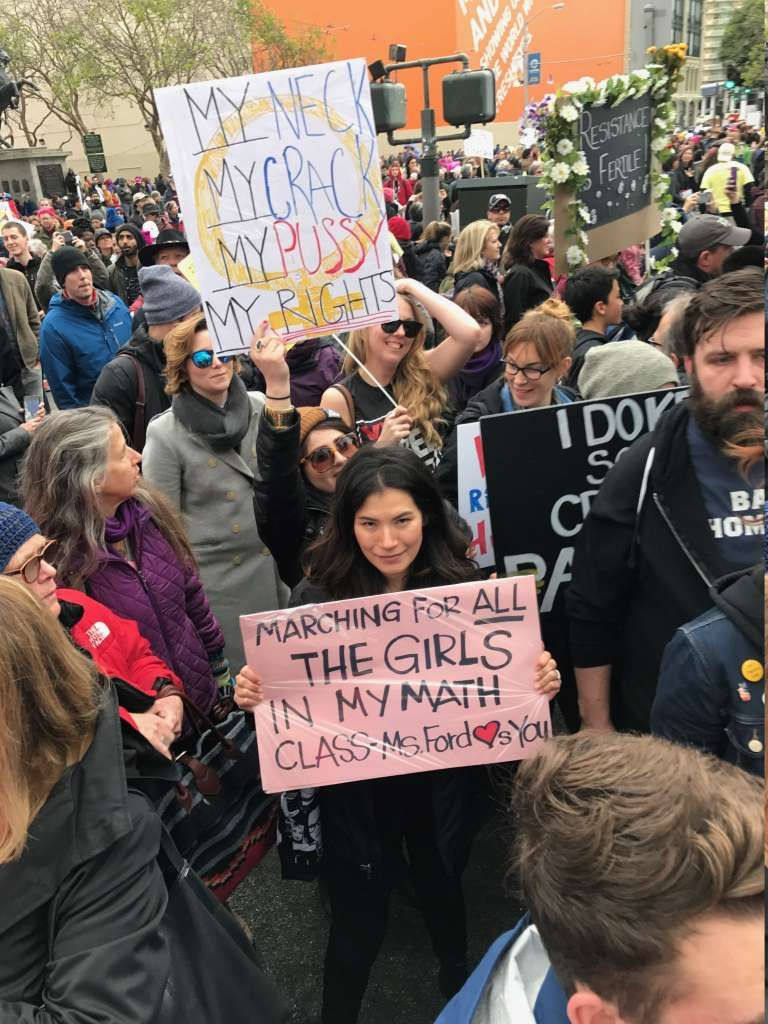 The Most Clever Signs From The San Francisco Women S March San Francisco Woman Womens March Womens March Signs
