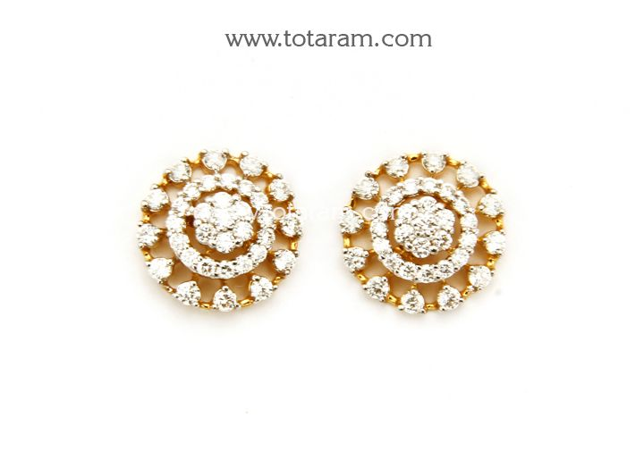 18K Gold Diamond Earrings engagement marriage Pinterest Gold