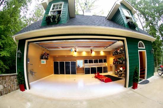 Front View Modern Garage Design Ideas | Modern garage, Garage ...