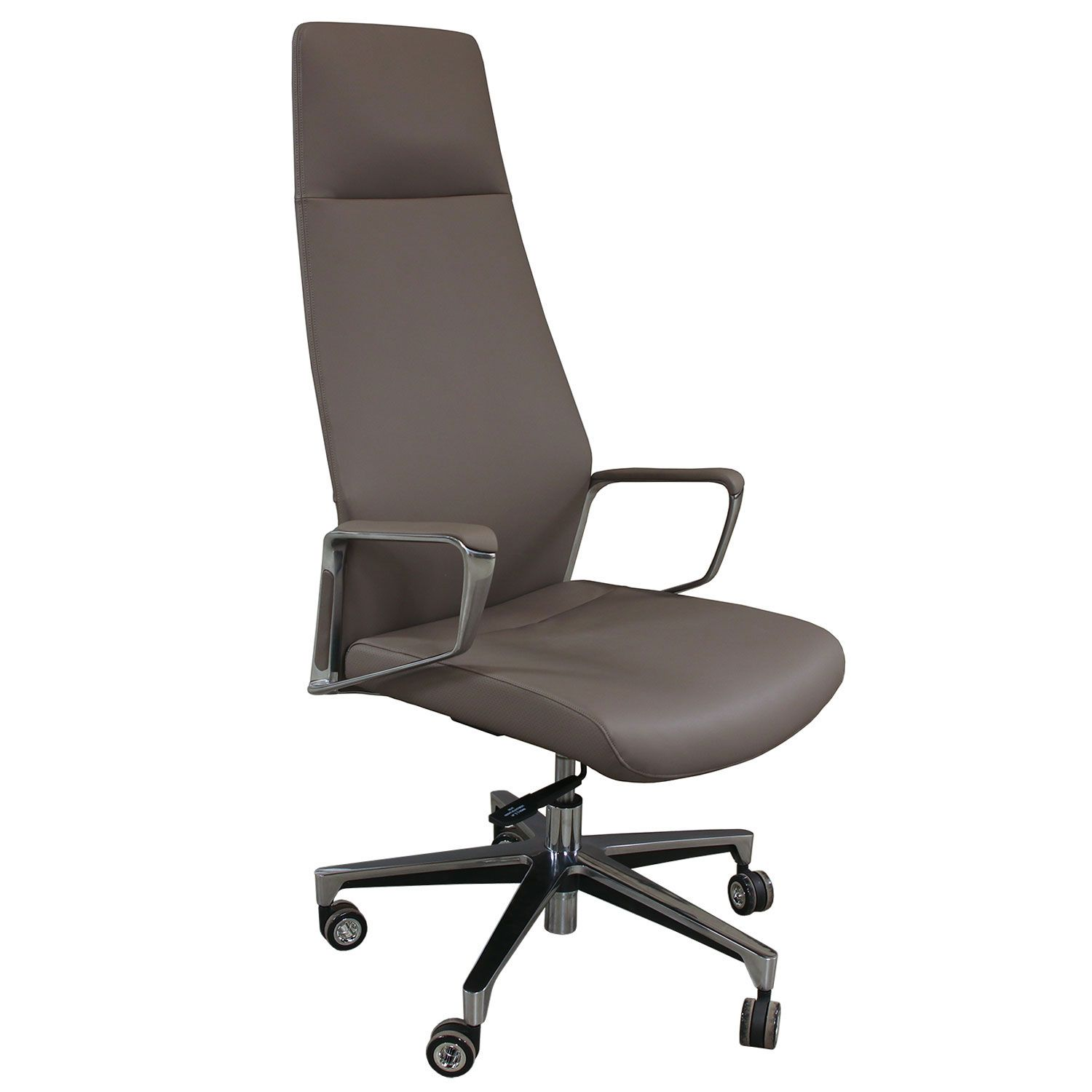 Aurora By Gosit High Back Leather Conference Chair Gray