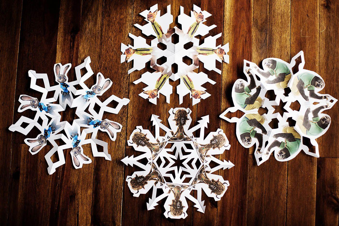 Zootopia Snowflakes All For The Boys