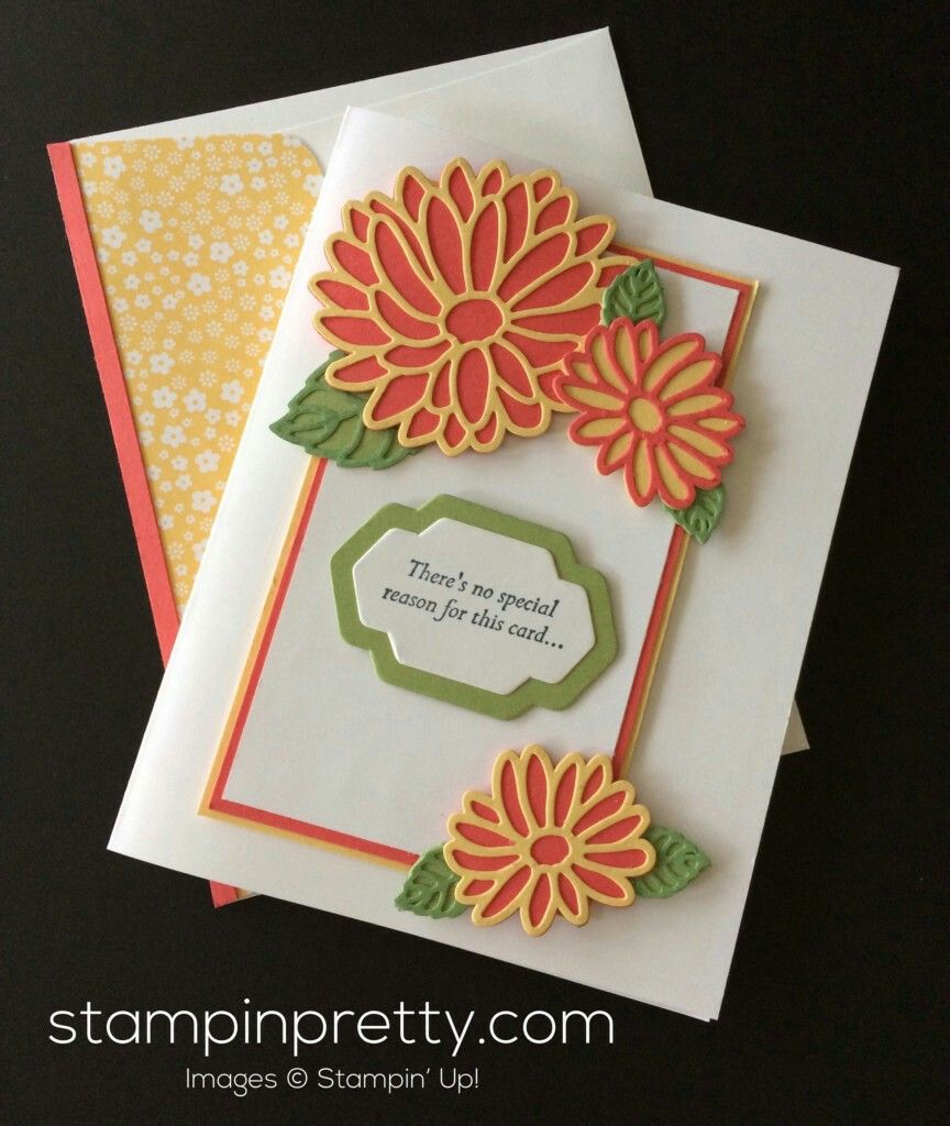Handmade Greeting Card By Mary Fish Orange And Olive Special