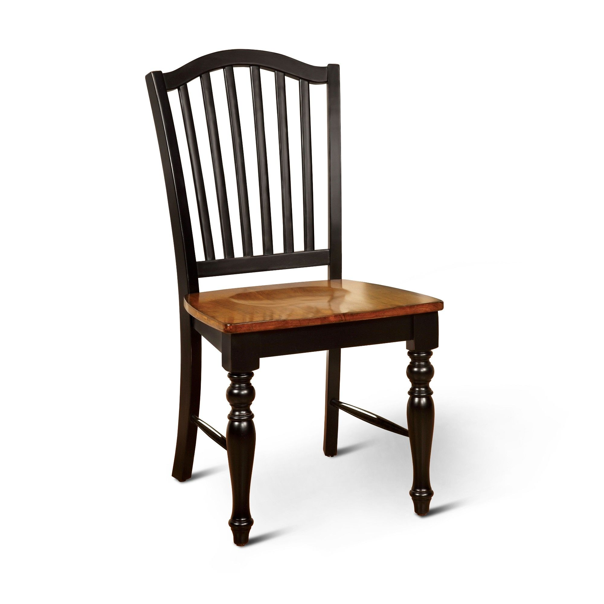 Set of 2 Jameson Country Style Wooden Chair Black/Oak