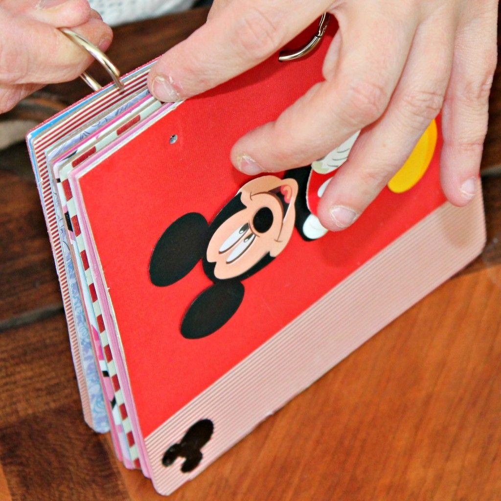 How to scrapbook disney vacation - Diy Disney Autograph Memory Book