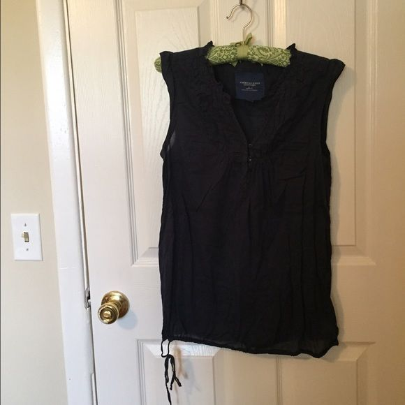 American Eagle Navy Top - 6 Navy blue top from American Eagle! Very cute and light! Love this top American Eagle Outfitters Tops Tank Tops