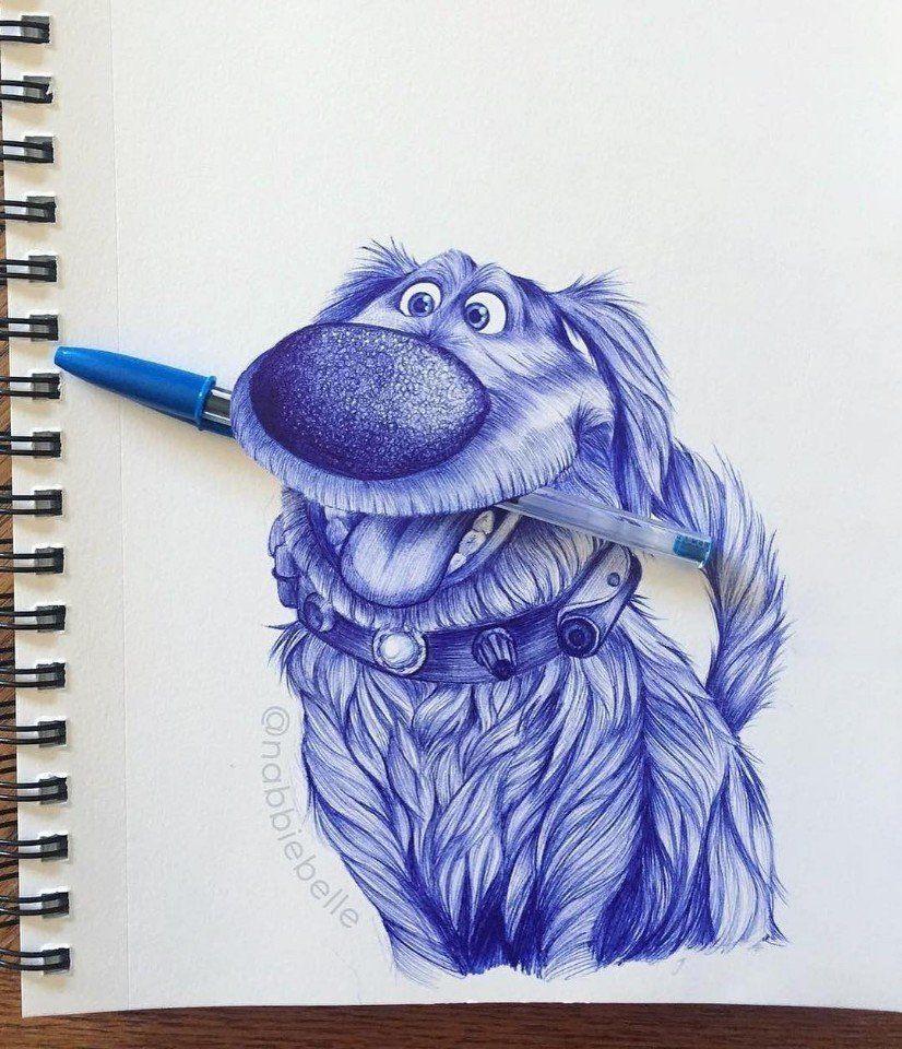 Dog Animal Pen Drawing Pen Art 3d Pencil Drawings 3d Drawings