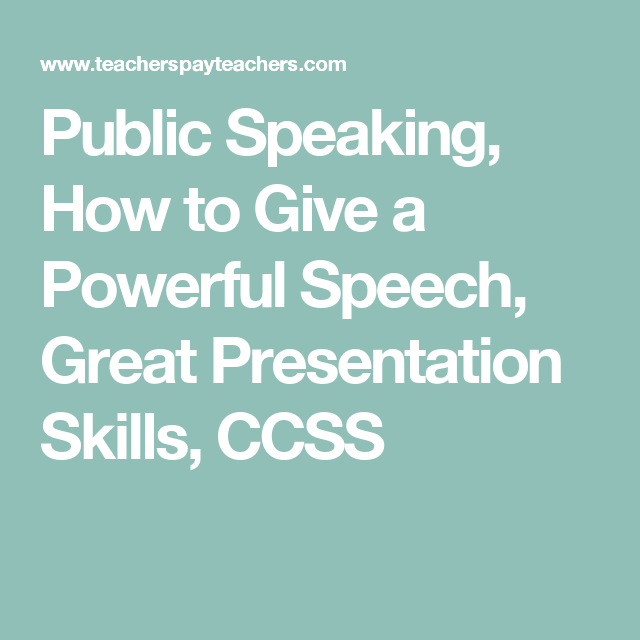 how to give a presentation to high school students