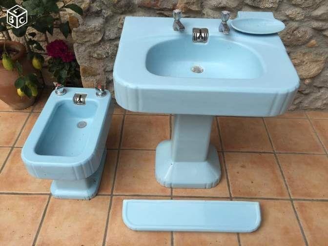 Ensemble salle de bain lavabo rétro vintage 50u0027s Bricolage Hérault