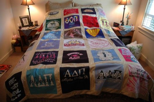 1 Adpi T Shirt Quilt Completion Shirt Quilts Sorority