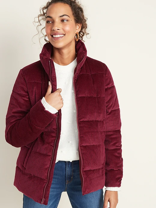 Frost-Free Corduroy Puffer Jacket for Women   Old Navy ...