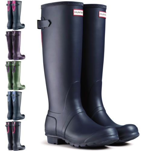 super popular 5728c 2869b Damen Hunter Original Verstellbare Rücken Wellie Festival ...