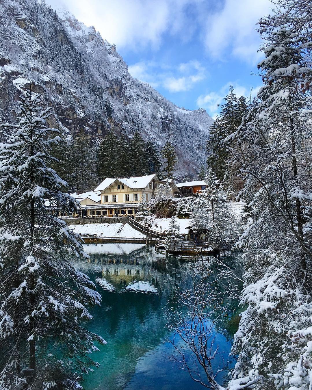 Amazing Places To Stay Switzerland: SWITZERLAND.VACATIONS % On Instagram: €�Blausee, Kandersteg