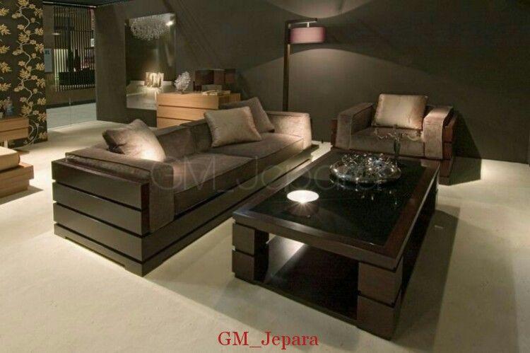 Kursi Tamu Minimalis Modern Black Kursi Ruang Tamu Mewah
