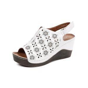 3ce7a1f67bcc AIMEIGAO 2018 New Summer Wedge Heels Women Sandals Open Toe Fish Head  Platform Shoes High Heels