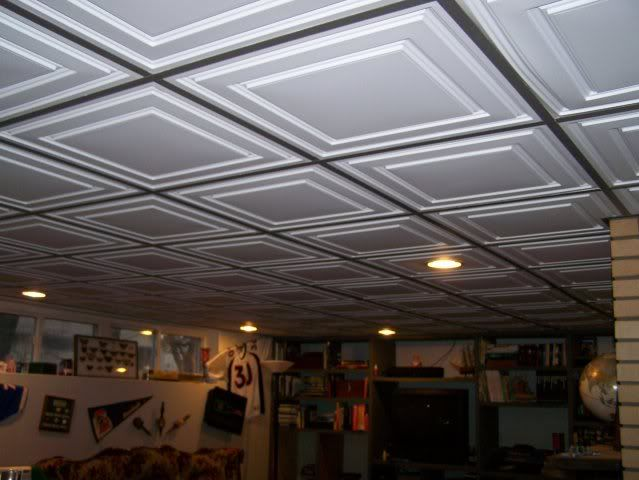 Ceiling Tile Ideas For Basement drop ceiling ideas | this is a nice example of a traditional