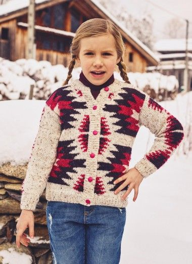 Cat. 16/17 - #303 Round neck fair isle cardigan | Crochet/knitting ...