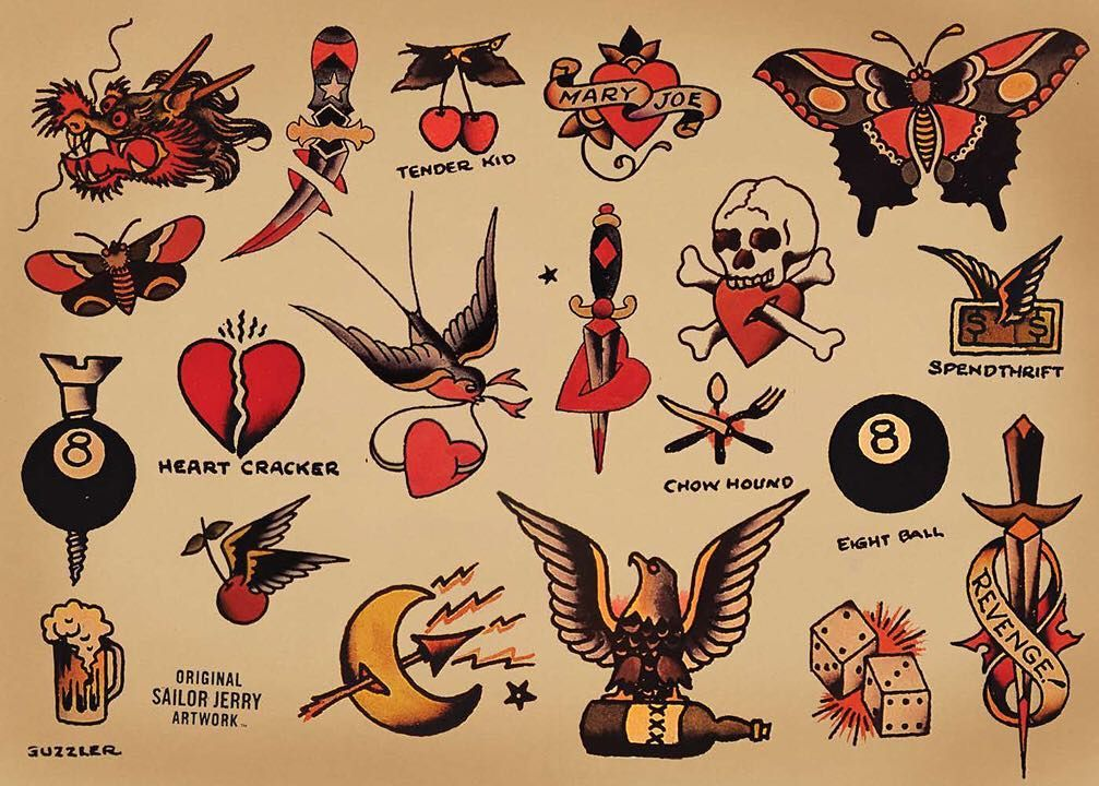 Would Love To Do Some Sailor Jerry Tattoos Would Give You A Great Deal If You Want Something T Sailor Tattoos Sailor Jerry Tattoos Sailor Jerry Tattoo Flash