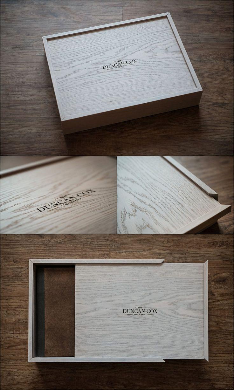 Personnalisé de chêne en bois photo gravé chêne photo souvenir boîte idée cadeau