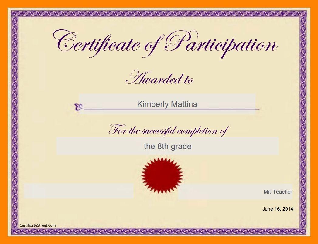 Student Certificate Template Google Docs Beautiful Certificate Template Googl Certificate Of Participation Template Certificate Templates Book Report Templates Google docs certificate of appreciation