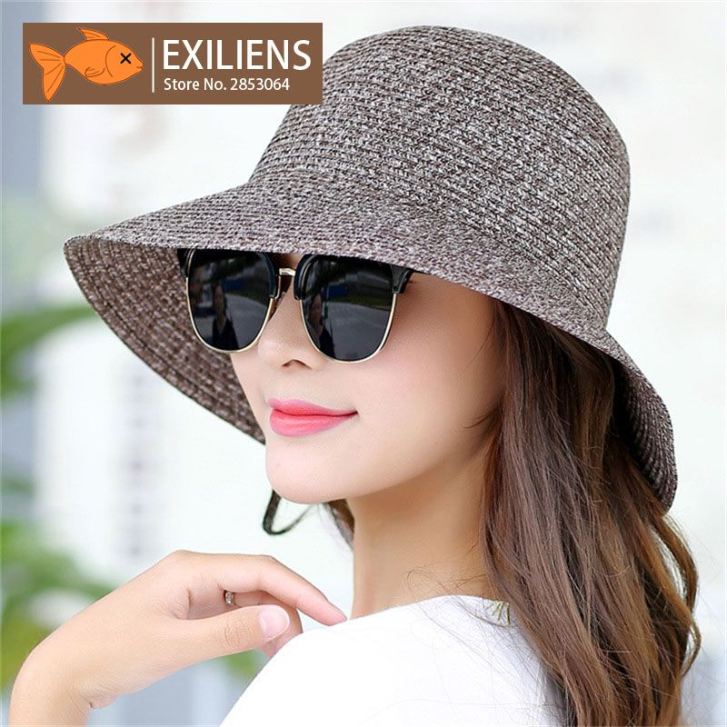 346c3ae6f EXILIENS 2018 New Lady Fashion Summer Hat Brand Women's Sun Hats ...