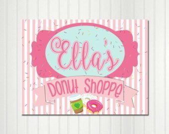 donut shop party backdrop donut party sign donut shop sign