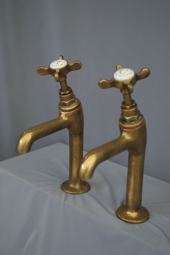 OLD, RECLAIMED, FULLY REFURBISHED AND READY TO FIT. TALL BRASS ...