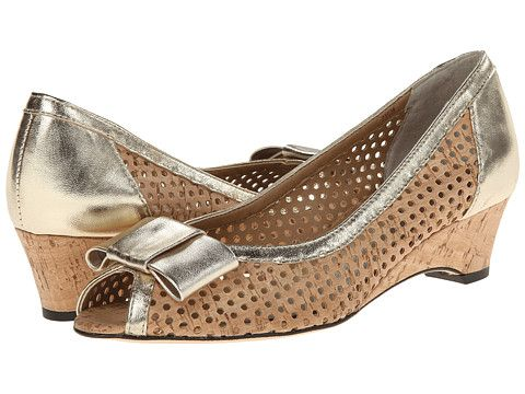 Womens Shoes Vaneli Birkey Natural Cork/Platino Metallic Nappa