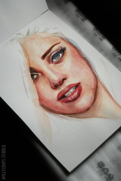 Beautiful drawing of a woman
