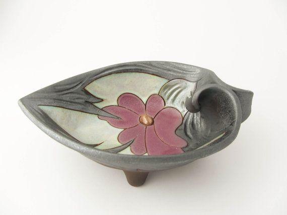 Pottery nut bowl 15cm small fruit bowl Silver by Avanturine, $25.00