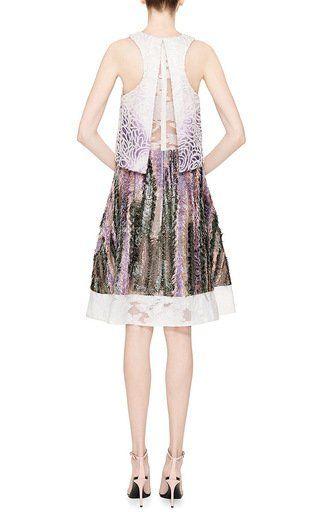 Silk Felted Bi-Level Dress by Prabal Gurung Now Available on Moda Operandi