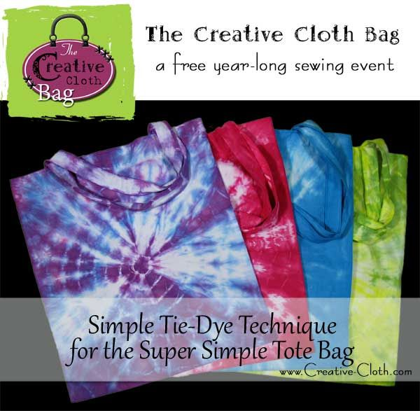 Simple TieDye Technique For The Super Simple Tote Bag Tie Dye New Simple Tie Dye Patterns