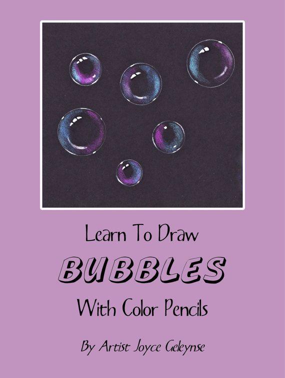 Draw Bubbles In Color Pencil Pdf Tutorial Black Paper Make