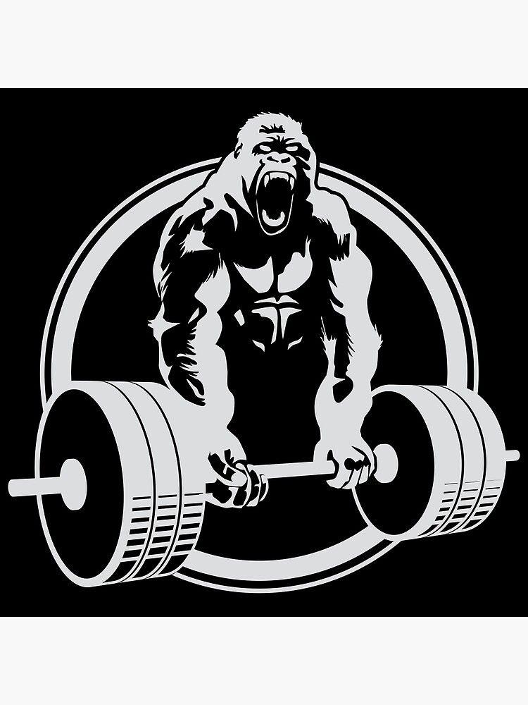 Gorilla Gym Poster By Carl Huber In 2021 Gorilla Gym Gym Poster Gorillas Art