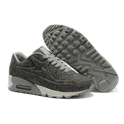 Nike Air Max 90 VT Womens Tweed Gray White Trainers