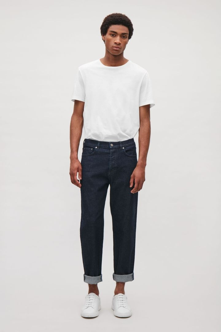 Cos Image 1 Of Straight Leg Cropped Jeans In Dark Blue