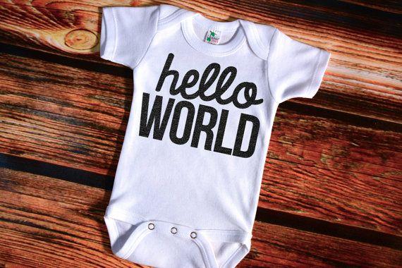 Hello World Bodysuit Gender Neutral