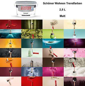 Details Zu Schoner Wohnen Trendfarbe Matt 2 5l Wandfarbe Farbwahl Innenfarbe Neuware Schoner Wohnen Trendfarbe Schoner Wohnen Wandfarbe Schoner Wohnen Farbe