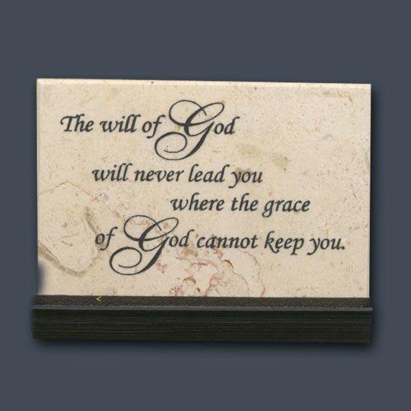 The Will Of God Prayer Stone Holy Land Stone Company God