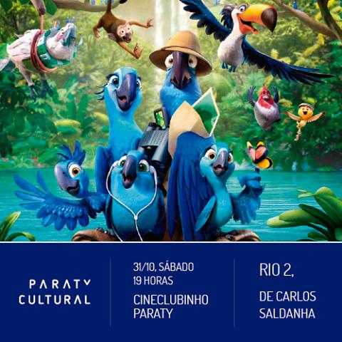 O Cineclubinho Paraty, em parceria com a Associação Paraty Cultural, exibe a animação Rio 2, neste sábado, 31. Não perca!  Mais informações sobre o filme: http://www.casadaculturaparaty.org.br/  #CasaDaCultura #CasaDaCulturaParaty #exposição #fotografia #música #cultura #turismo #arte #VisiteParaty #TurismoParaty #Paraty #PousadaDoCareca #ParatyCultural #Cinema #Cineclublinho #CineclubinhoParaty #Rio2