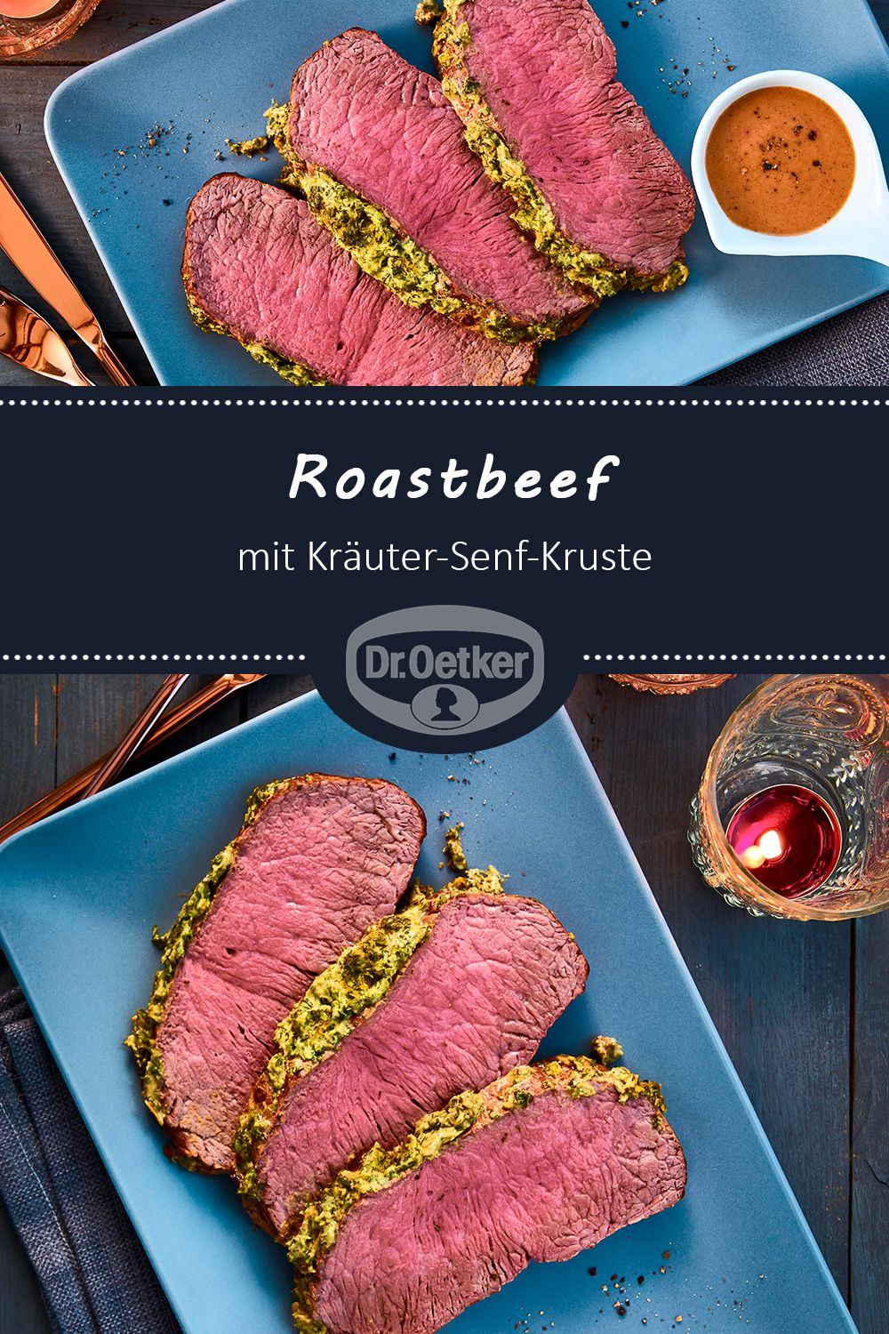Photo of Roast beef with herb and mustard crust