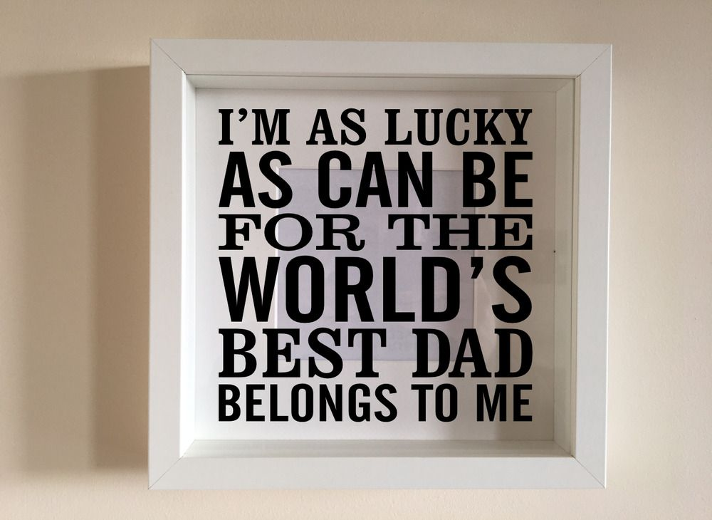Worlds Best Dad Belongs To Me Wall Art