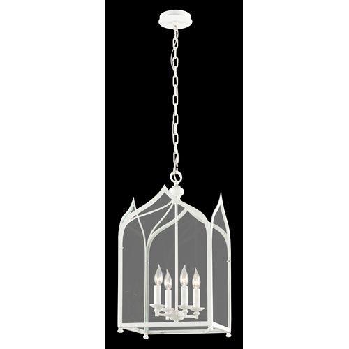 York White Four Light Medium Pendant With Clear Glass Lantern Pendant Lighting Ceiling Li