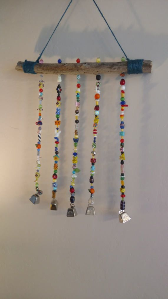 multi colored beaded wind chime suncatchers pinterest. Black Bedroom Furniture Sets. Home Design Ideas